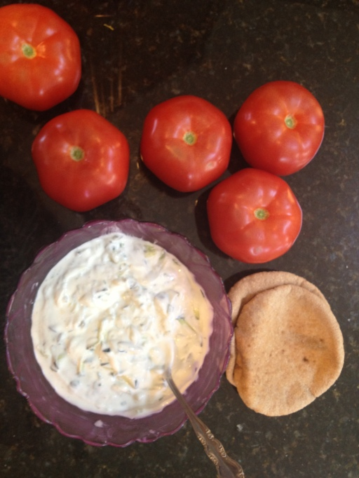 cucumber chive greek yogurt dip